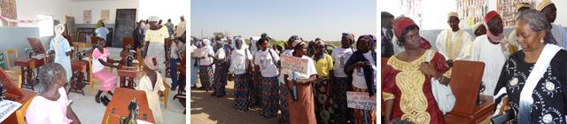 Einweihung der Nähstube in Boboyo - Kamerun