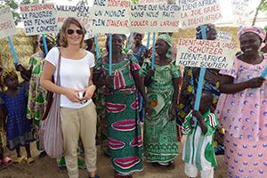 Stefanie Kerner für ident.africa in Boboyo